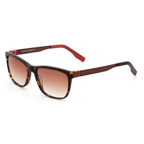 Коричневые унисекс солнцезащитные очки Enni Marco модель IS 11-387 50P